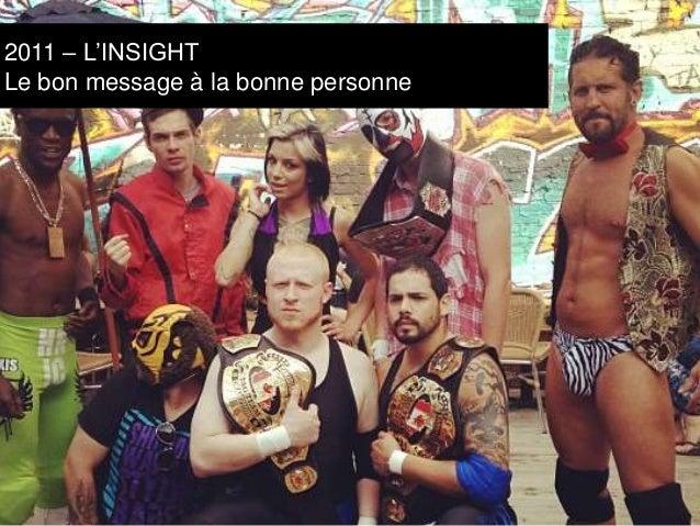 2011 – L'INSIGHT  Le bon message à la bonne personne