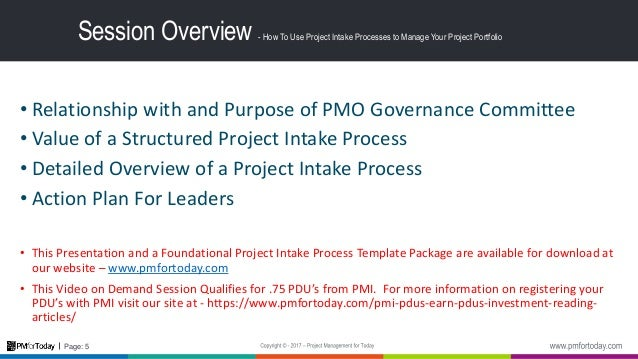 How To Use a Structured Project Intake Process to Improve