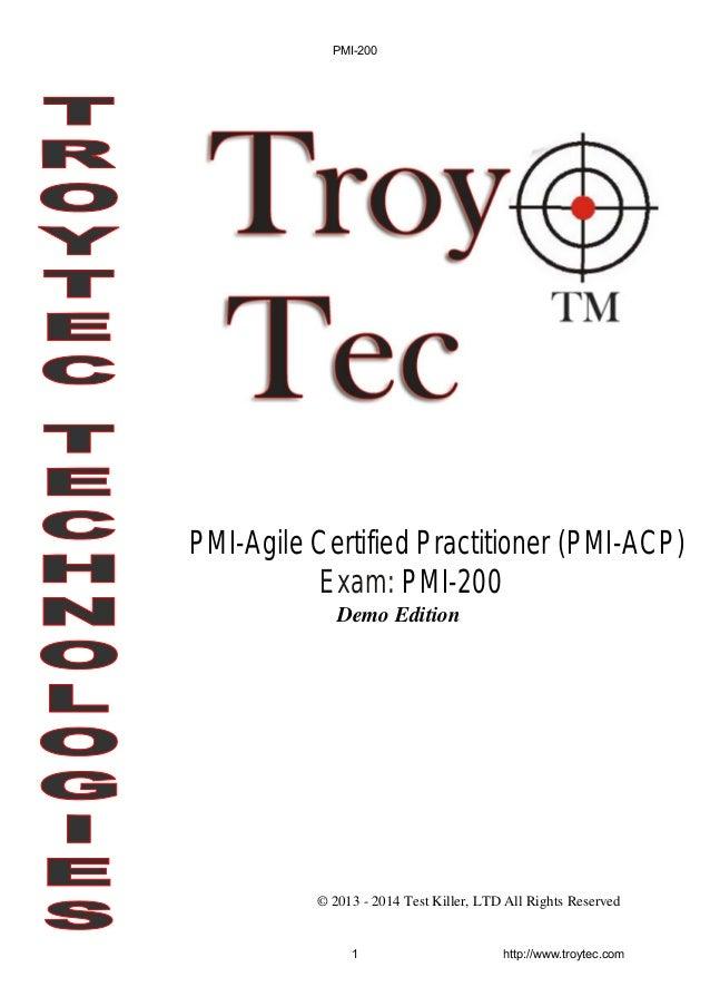 Pmi 200 Exam Pmi Agile Certified Practitioner Pmi Acp