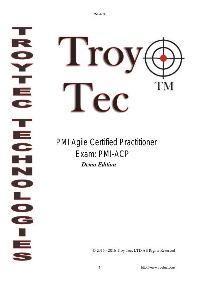 Pmi Acp Exam Pmi Agile Certified Practitioner
