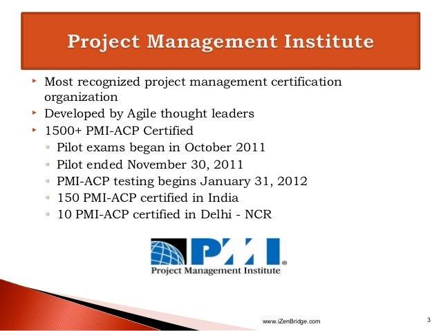 PMI-ACP : PMI - Agile Certified Practitioner