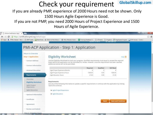 Easy 1-2-3 like Steps for PMI ACP Application Submission for Exam