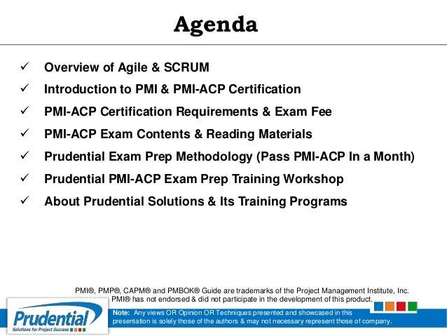 PMI - ACP (Agile Certified Practitionar) Certification Exam Prep