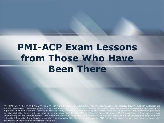 how to prepare for pmi acp exam