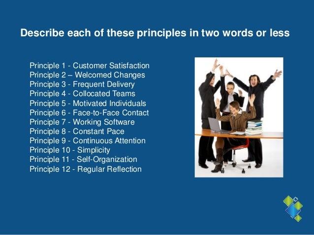 Examining the agile manifesto principles