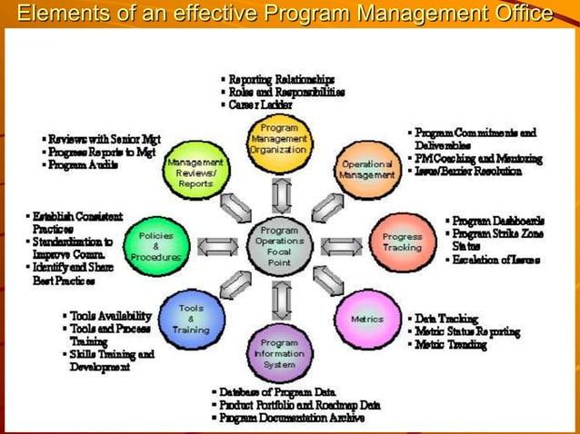 Elements of an effective Program Management Office