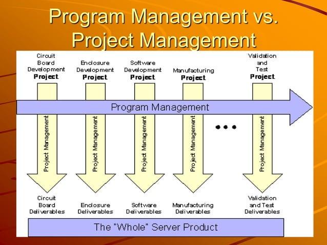 Program Management vs. Project Management