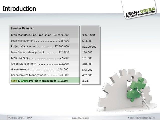 Lean & Green Project Management - PMI Conference Slide 3