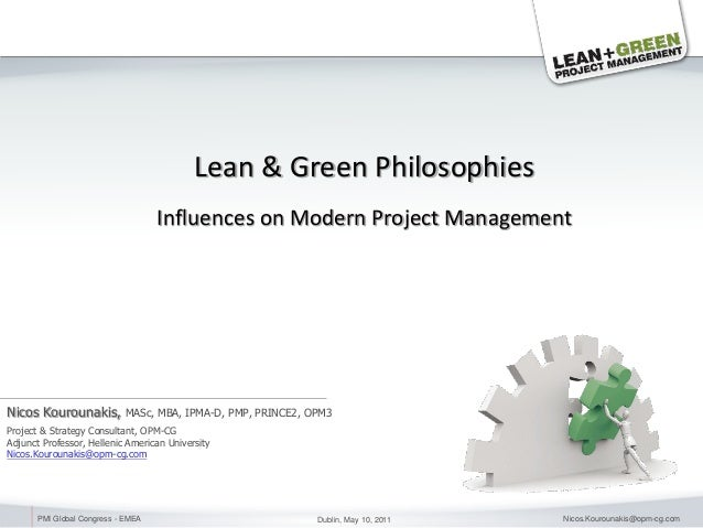 Lean & Green Project Management - PMI Conference