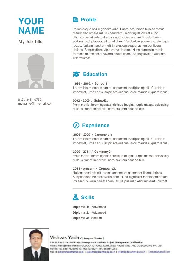 pmi pmp resume template 7