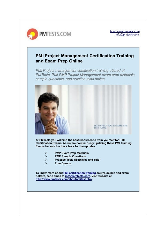 Pmi Project Management Certification Training And Exam Prep Online