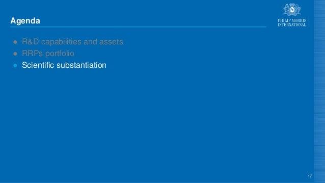 Agenda ● R&D capabilities and assets ● RRPs portfolio ● Scientific substantiation 17
