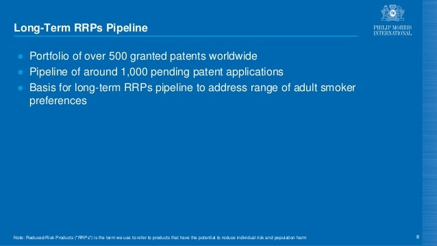 Long-Term RRPs Pipeline ● Portfolio of over 500 granted patents worldwide ● Pipeline of around 1,000 pending patent applic...