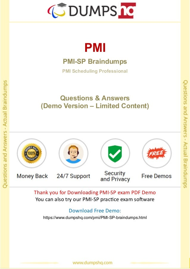 Pass Pmi Sp Exam Easily With Pmi Sp Practice Test