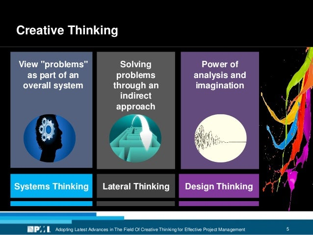 5 Creative Thinking Adopting Latest Advances in The Field Of Creative Thinking for Effective Project Management Systems Th...