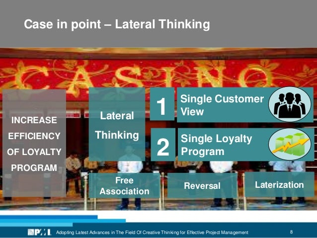 8Adopting Latest Advances in The Field Of Creative Thinking for Effective Project Management Case in point – Lateral Think...