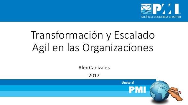 Únete al PMI Transformación y Escalado Agil en las Organizaciones Alex Canizales 2017