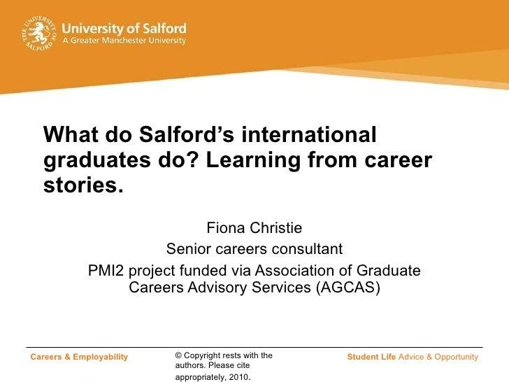 Career stories of international graduates