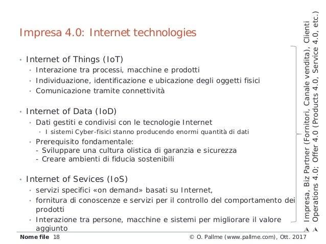 • Internet of Things (IoT) • Interazione tra processi, macchine e prodotti • Individuazione, identificazione e ubicazione ...