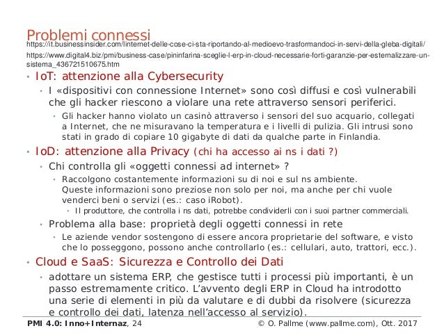 • IoT: attenzione alla Cybersecurity • I «dispositivi con connessione Internet» sono così diffusi e così vulnerabili che g...