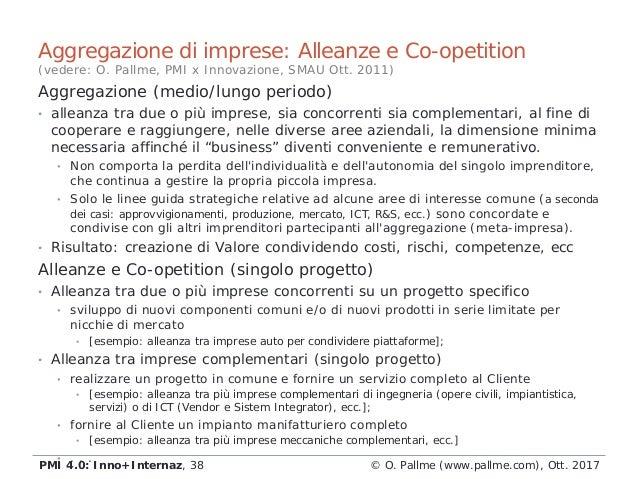 Aggregazione (medio/lungo periodo) • alleanza tra due o più imprese, sia concorrenti sia complementari, al fine di coopera...