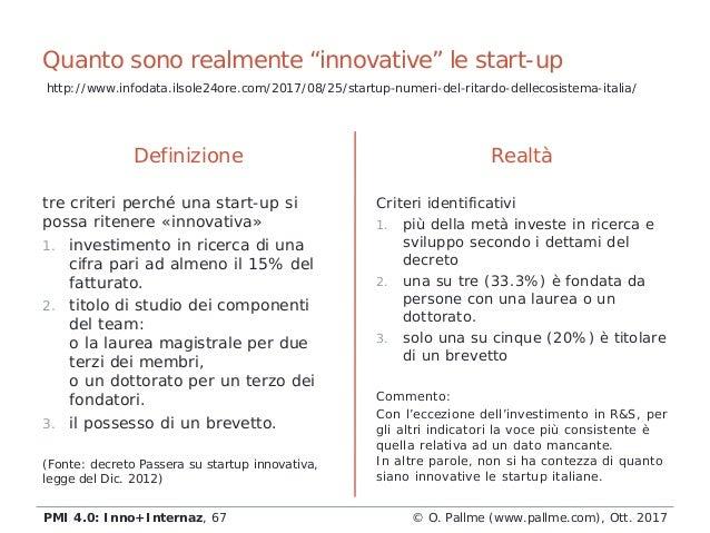 """Quanto sono realmente """"innovative"""" le start-up Definizione tre criteri perché una start-up si possa ritenere «innovativa» ..."""