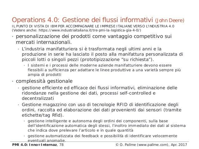 • personalizzazione dei prodotti come vantaggio competitivo sui mercati internazionali. • L'industria manifatturiera si è ...