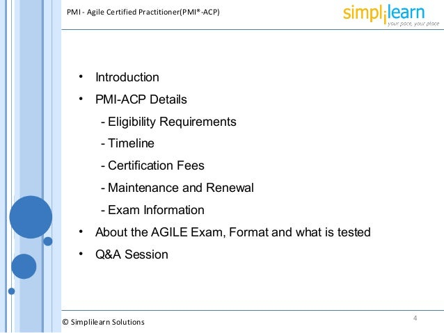 PMI ACP Certification Requirements