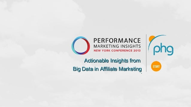 Actionable Insights fromBig Data in Affiliate Marketing                               ..