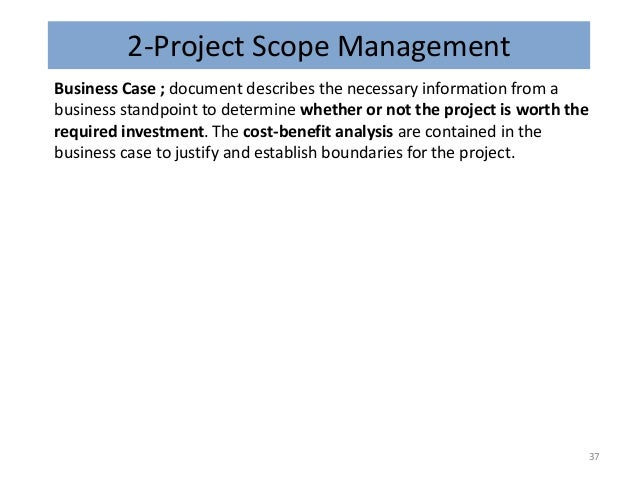 Pmi dec 13 36 37 2 project scope management business case document flashek Gallery