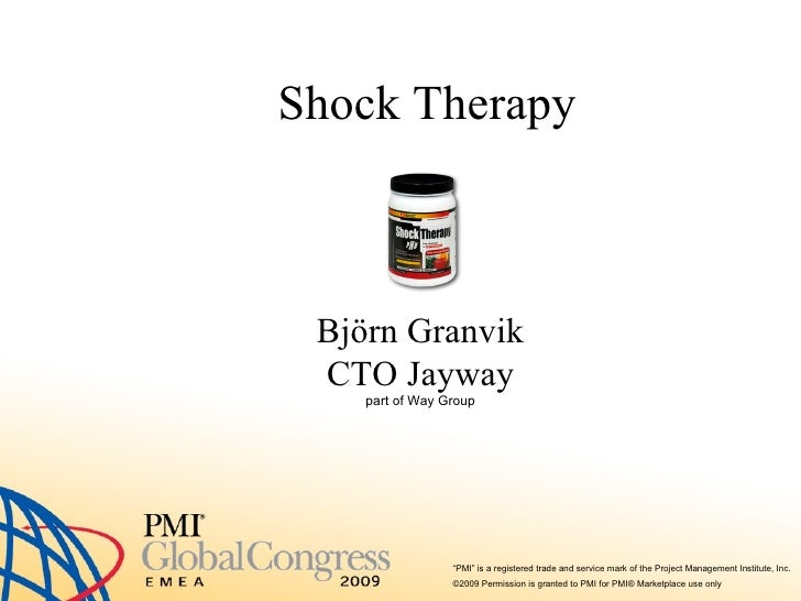 Shock Therapy Björn Granvik CTO Jayway part of Way Group