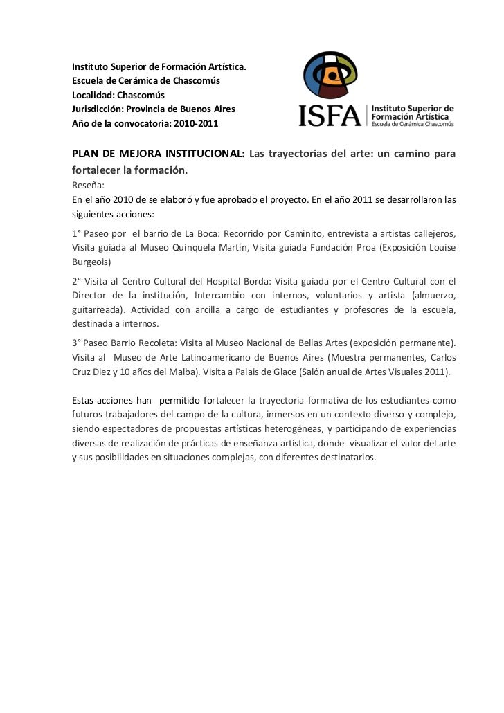 Instituto Superior de Formación Artística.Escuela de Cerámica de ChascomúsLocalidad: ChascomúsJurisdicción: Provincia de B...