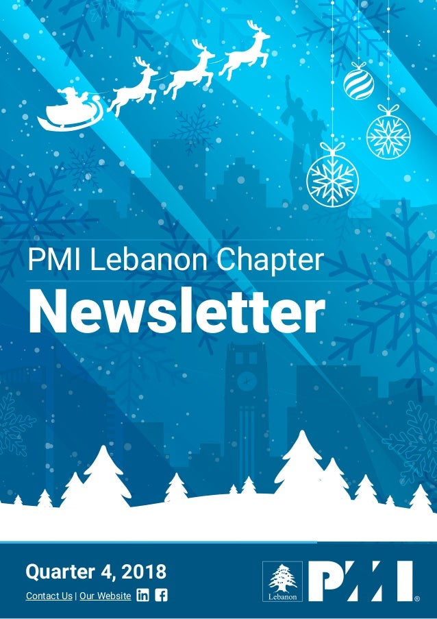 PMI Lebanon Chapter Newsletter Quarter 4, 2018 Contact Us | Our Website