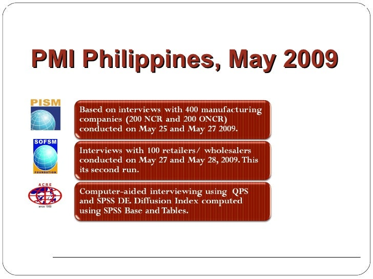 PMI Philippines, May 2009