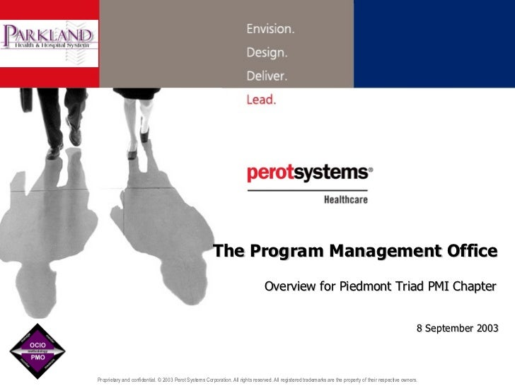 The Program Management Office Overview for Piedmont Triad PMI Chapter 8 September 2003