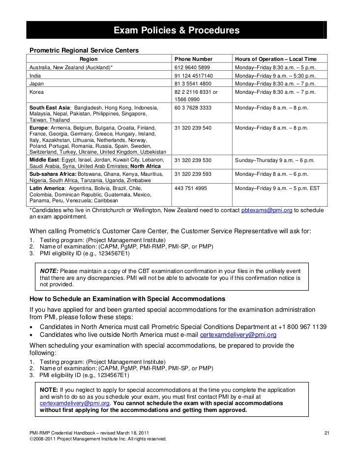 Exam Policies & ProceduresPrometric Regional Service Centers                       Region                                 ...