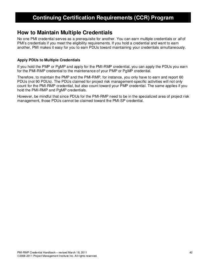 PMI-RMP Handbook