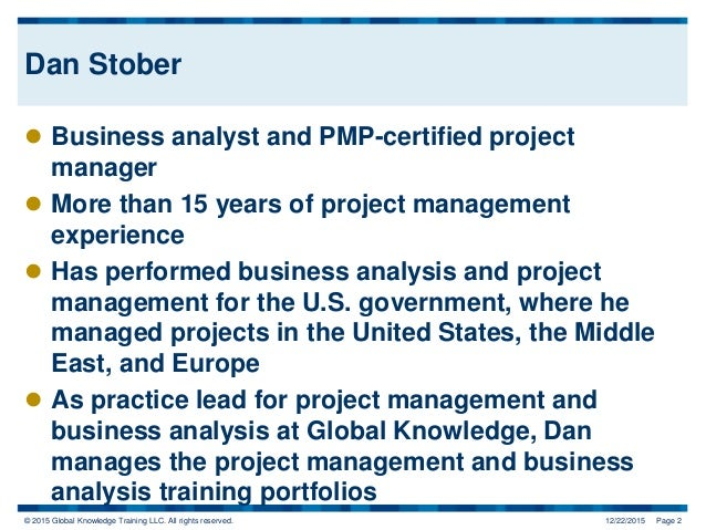 How the New PMP Exam and PDU Structure Impacts You Slide 2