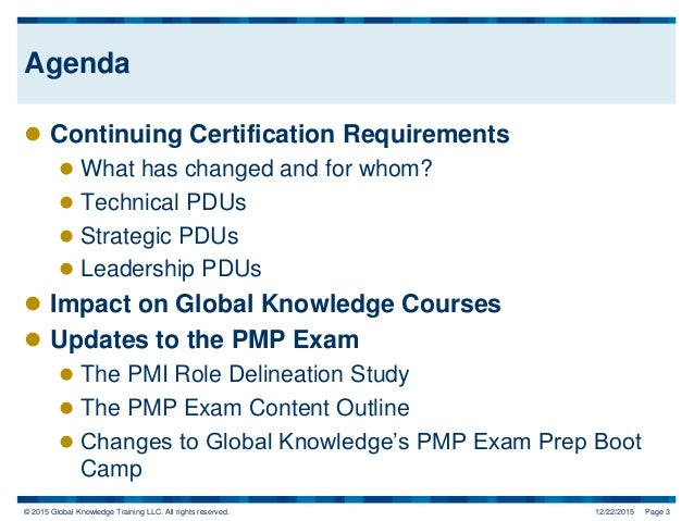 How the New PMP Exam and PDU Structure Impacts You Slide 3