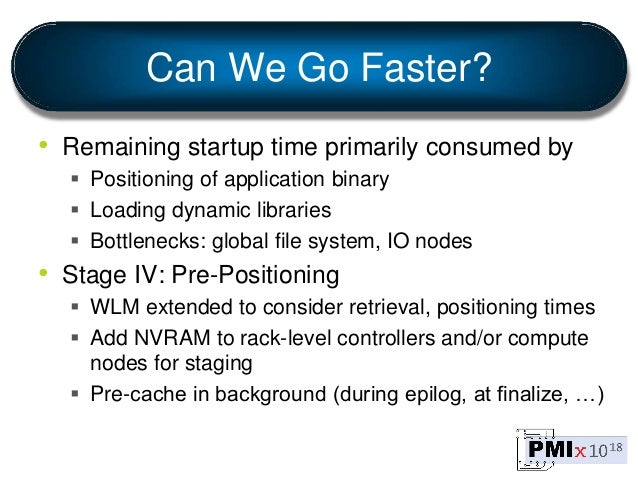 Can We Go Faster? • Remaining startup time primarily consumed by  Positioning of application binary  Loading dynamic lib...