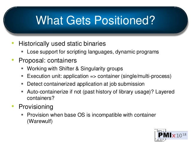 What Gets Positioned? • Historically used static binaries  Lose support for scripting languages, dynamic programs • Propo...