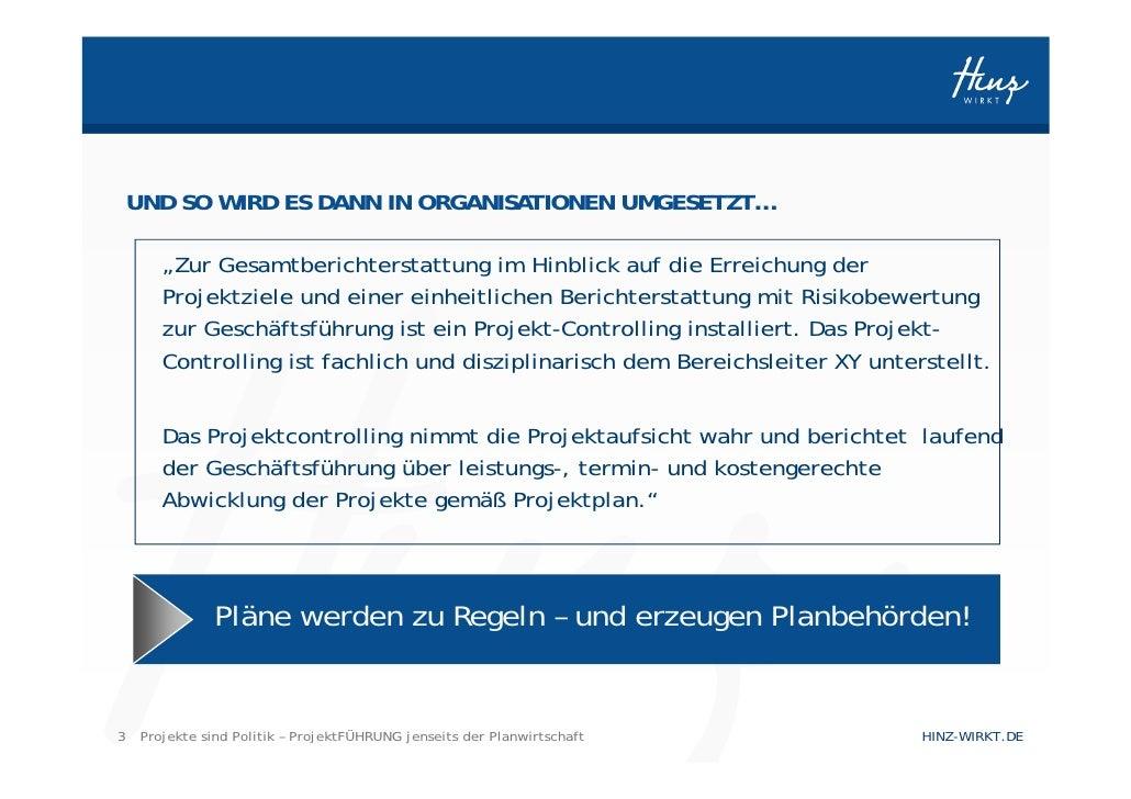 Projektmanagement jenseits der Planwirtschaft Slide 3