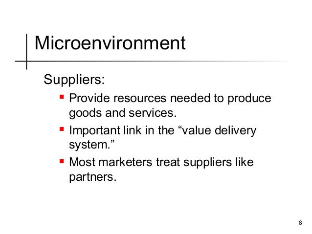 philippine marketing environment Marketing environment business environment comprises the exterior factors that influence the company operations either direct or indirect marketing environment is a component of business environment that influences the company's capacity to promote and perform efficient operations on the market.
