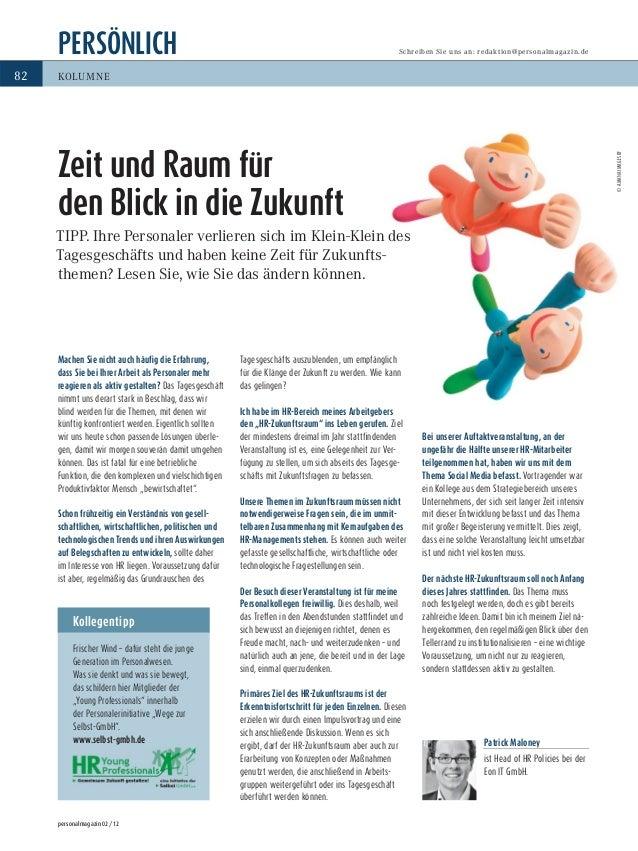 PERSÖNLICH personalmagazin 02/12 82 Schreiben Sie uns an: redaktion@personalmagazin.de KOLUMNE Kollegentipp Frischer Wind ...