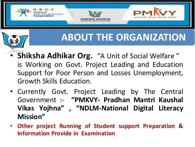 """• Shiksha Adhikar Org. """"A Unit of Social Welfare """" is Working on Govt. Project Leading and Education Support for Poor Pers..."""