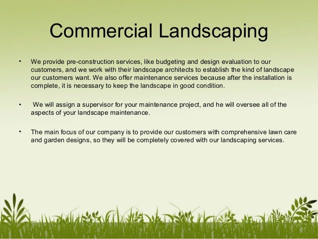 11. Commercial Landscaping ... - P&mlandscaping Company Profile