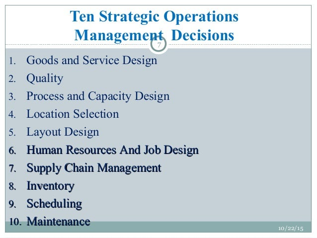 management of strategic operations Operations management in quebec:  execution and control of operations strategic management of resources s&op certification - cpim.