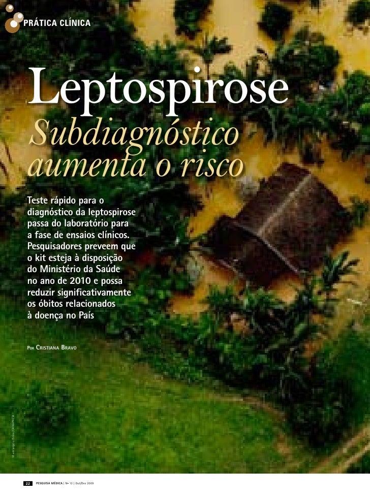Prática clínica                               Leptospirose                               Subdiagnóstico                   ...