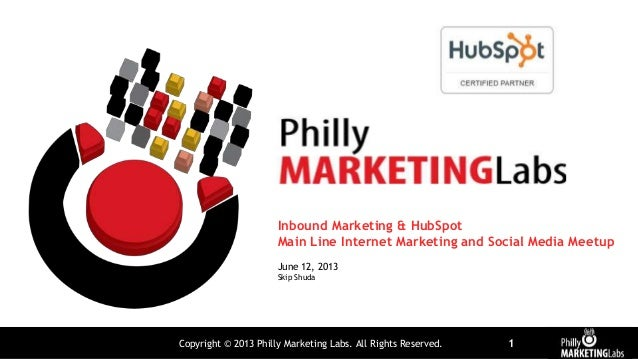 Copyright © 2013 Philly Marketing Labs. All Rights Reserved. 1Inbound Marketing & HubSpotMain Line Internet Marketing and ...