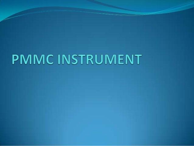 pmmc instrument ppt
